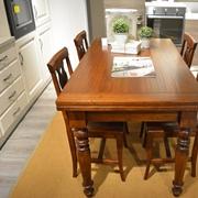 tavolo e sedie massello in finitura bassano