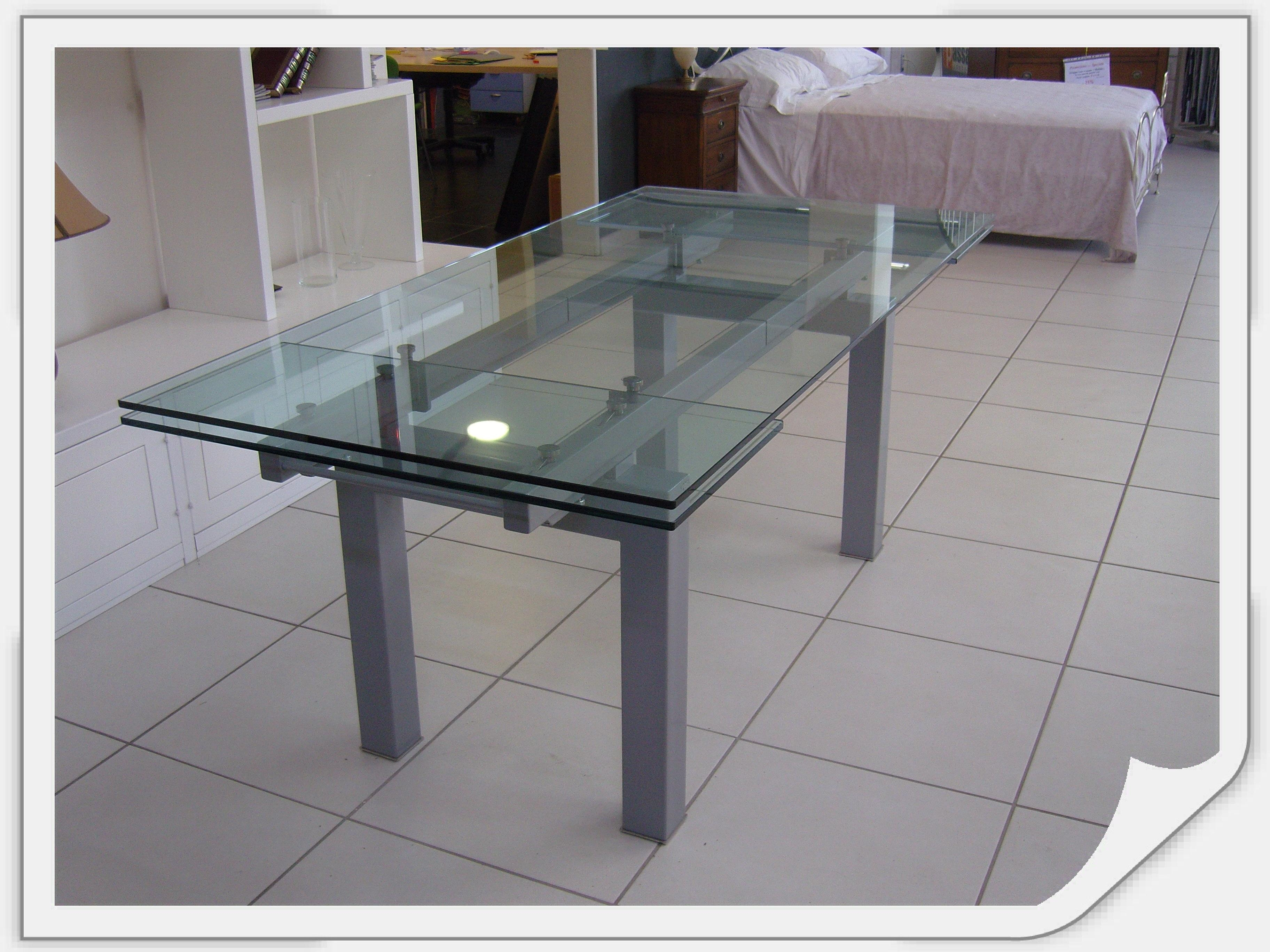 Cattelan tavolo smart tavolo vetro allungabile scontato - Tavolo di vetro ...