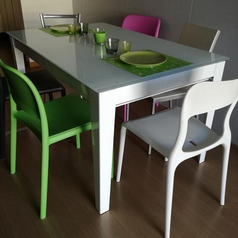 Tavolo allungabile fino a cm 380 tavoli a prezzi scontati - Tavolo cristallo rettangolare usato ...