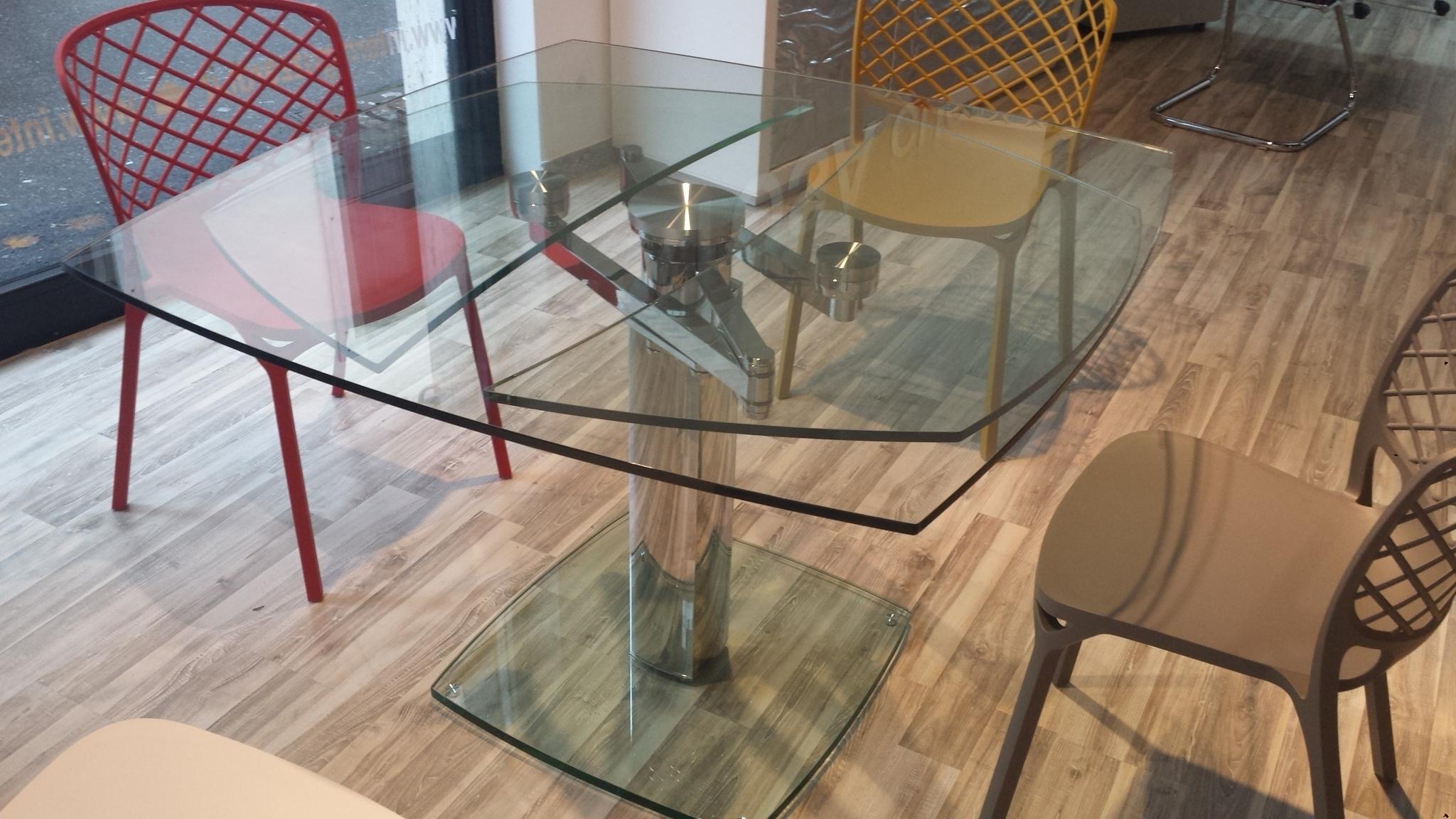 Pozzoli tavolo advance allungabile vetro tavoli a prezzi - Tavolo allungabile in cristallo ...