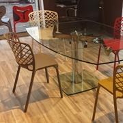 consolle maxima easyline : tavolo allungabile in cristallo mod. Advance in offerta esposizione