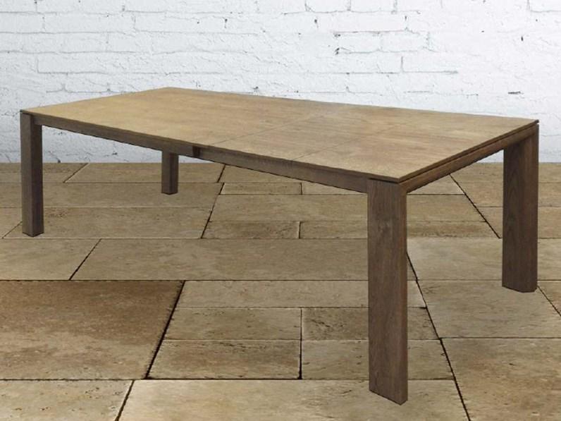 Tavolo allungabile in legno massello 200 287 cm for Tavoli in legno allungabili massello