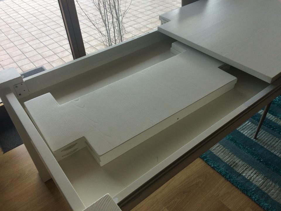 Tavolo allungabile in legno massello bianco - Tavoli a prezzi scontati
