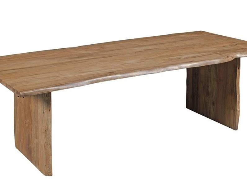 Tavoli In Legno Massello : Tavolo primitive in legno massello di teak in offerta pezzo unico