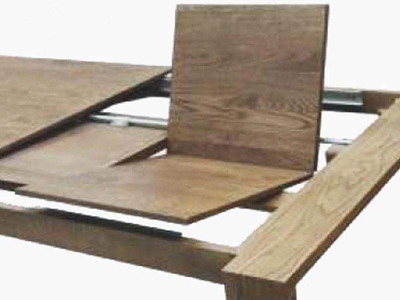 Tavolo allungabile in legno massello 140 204 cm for Tavolo consolle allungabile legno massello
