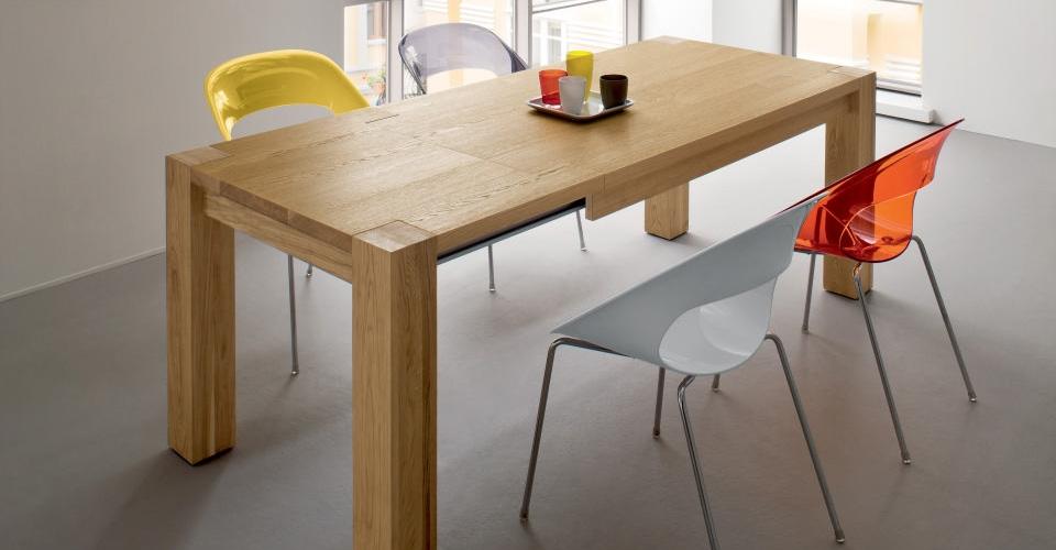 Tavolo allungabile in rovere tavoli a prezzi scontati for Tavolo legno moderno allungabile