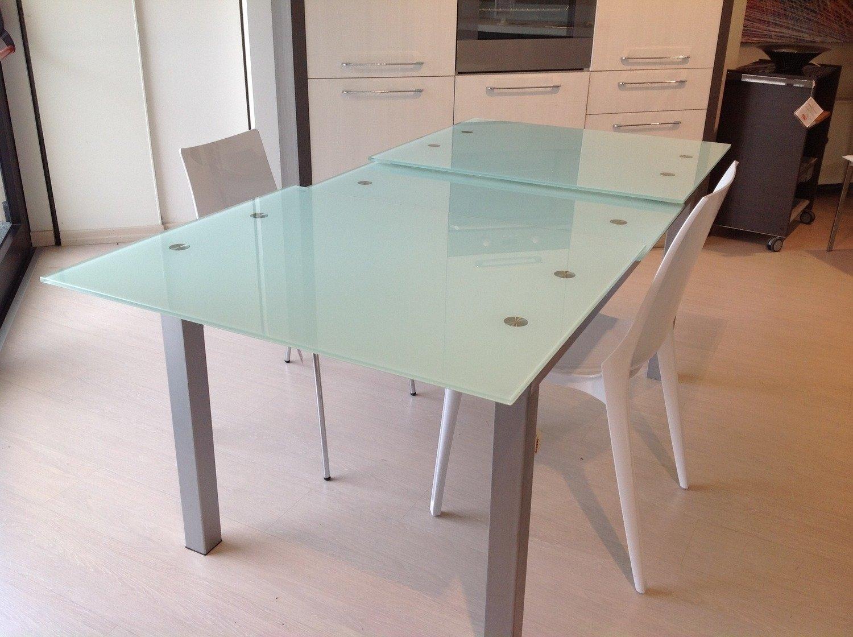 Tavolo allungabile in vetro tavoli a prezzi scontati - Tavolo consolle vetro allungabile ...