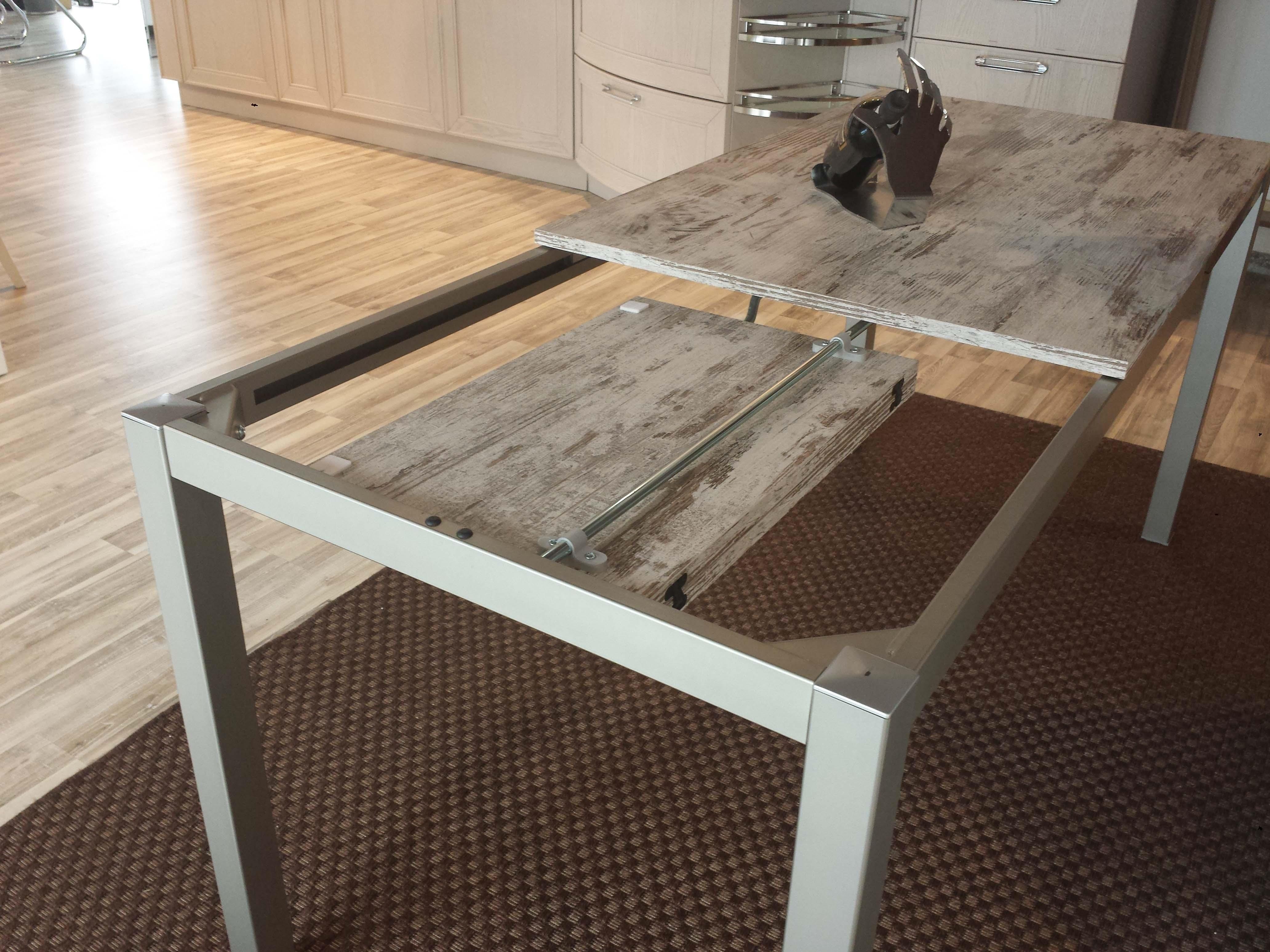 Tavolo kitchen rettangolare allungabile laminato tavoli for Tavoli estensibili in legno