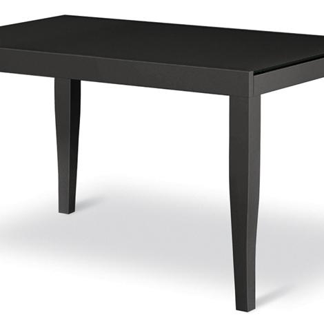 Tavolo nero allungabile in vetro e legno scontato Noa 2 - Tavoli a ...