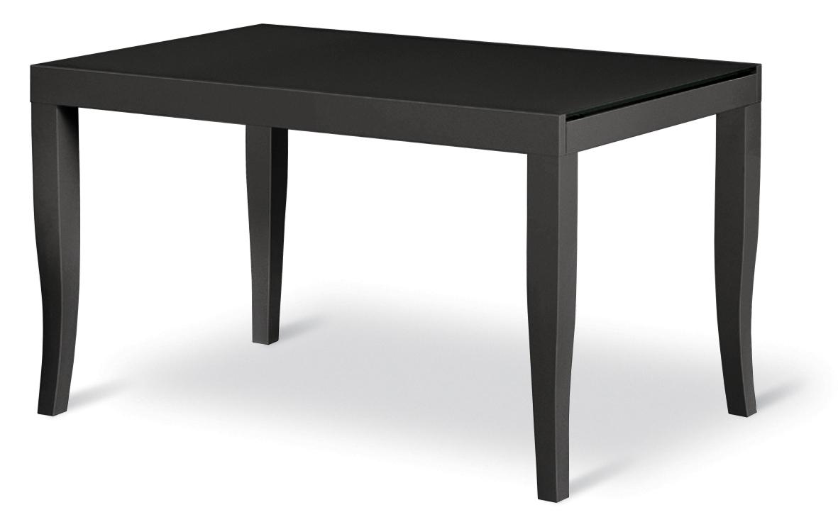 Tavolo nero allungabile in vetro e legno scontato noa 2 - Tavolo in vetro nero ...