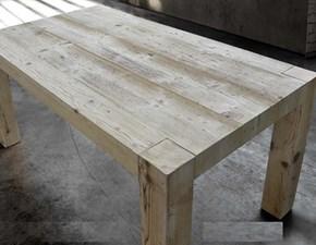 tavolo doppia allunga legno vecchio massiccio