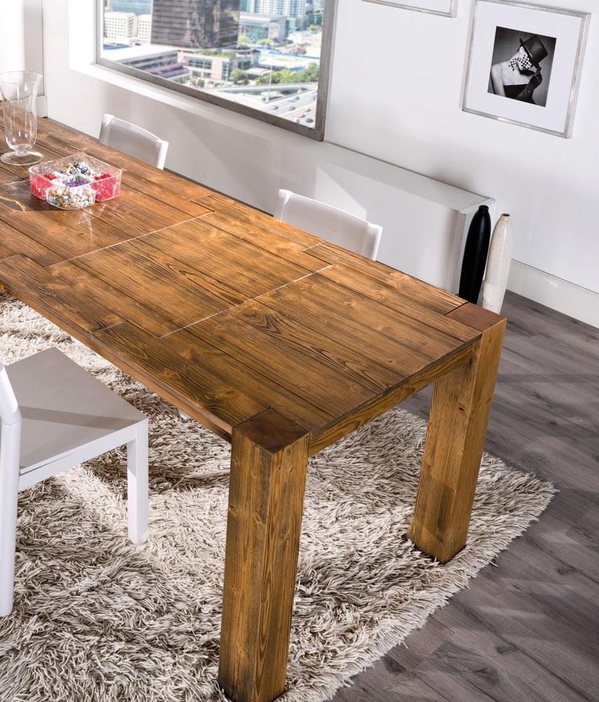 Tavoli in legno design for Tavolo consolle allungabile legno massello