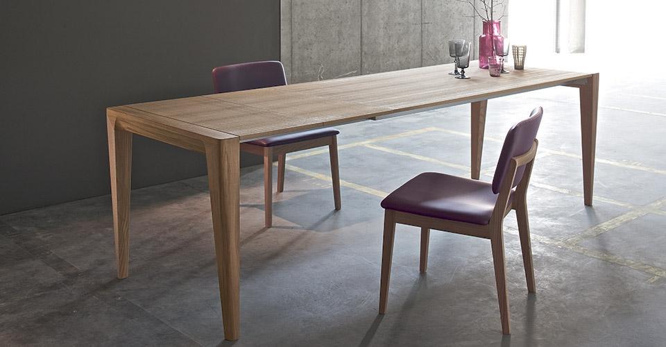 Tavolo allungabile rovere tinta olio di lino   tavoli a prezzi ...