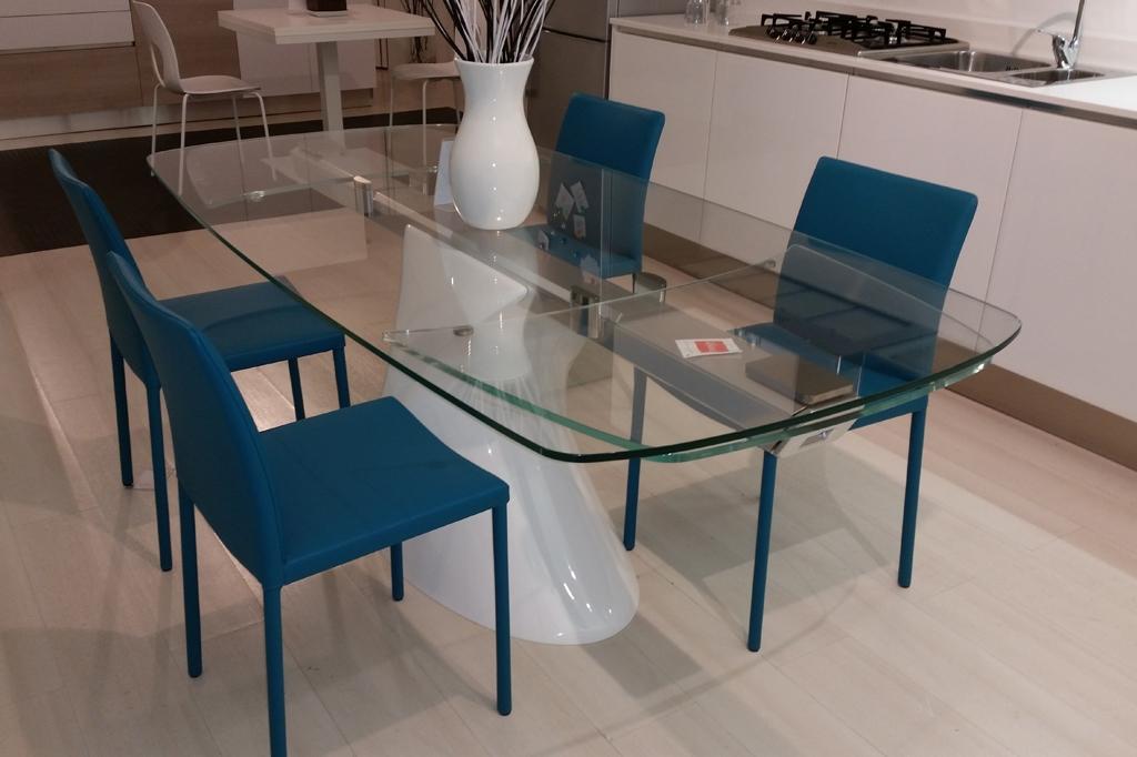 shanghai big allungabile in vetro : Tavolo in VETRO allungabile, extra chiaro trasparente scontatissimo da ...