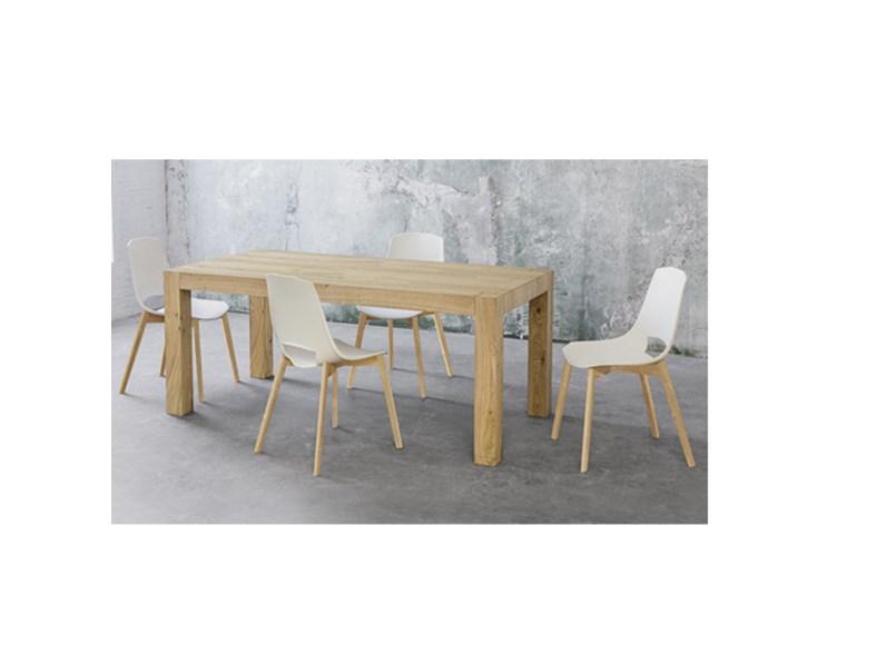 Tavolo allungabile Point House Tola 140 in legno di rovere naturale