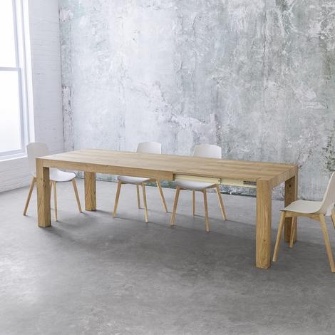 Tavolo allungabile point house tola 140 in legno di rovere - Tavolo in rovere naturale ...