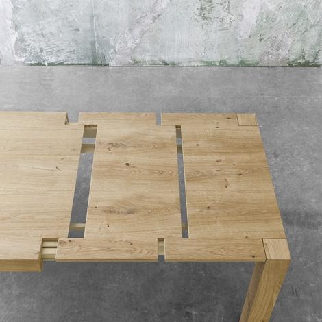 Tavolo allungabile point house tola 180 in legno di rovere - Tavolo in rovere naturale ...