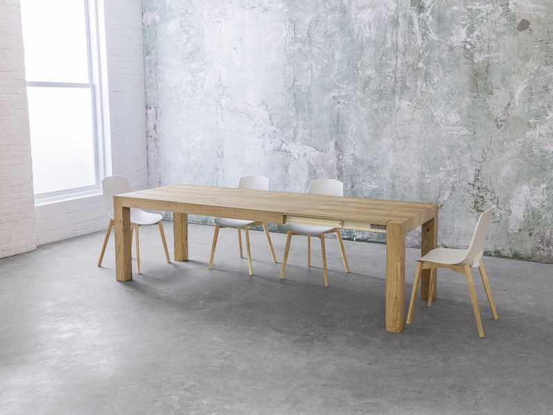 Tavolo allungabile point house tola 180 in legno di rovere for Tavolo allungabile rovere