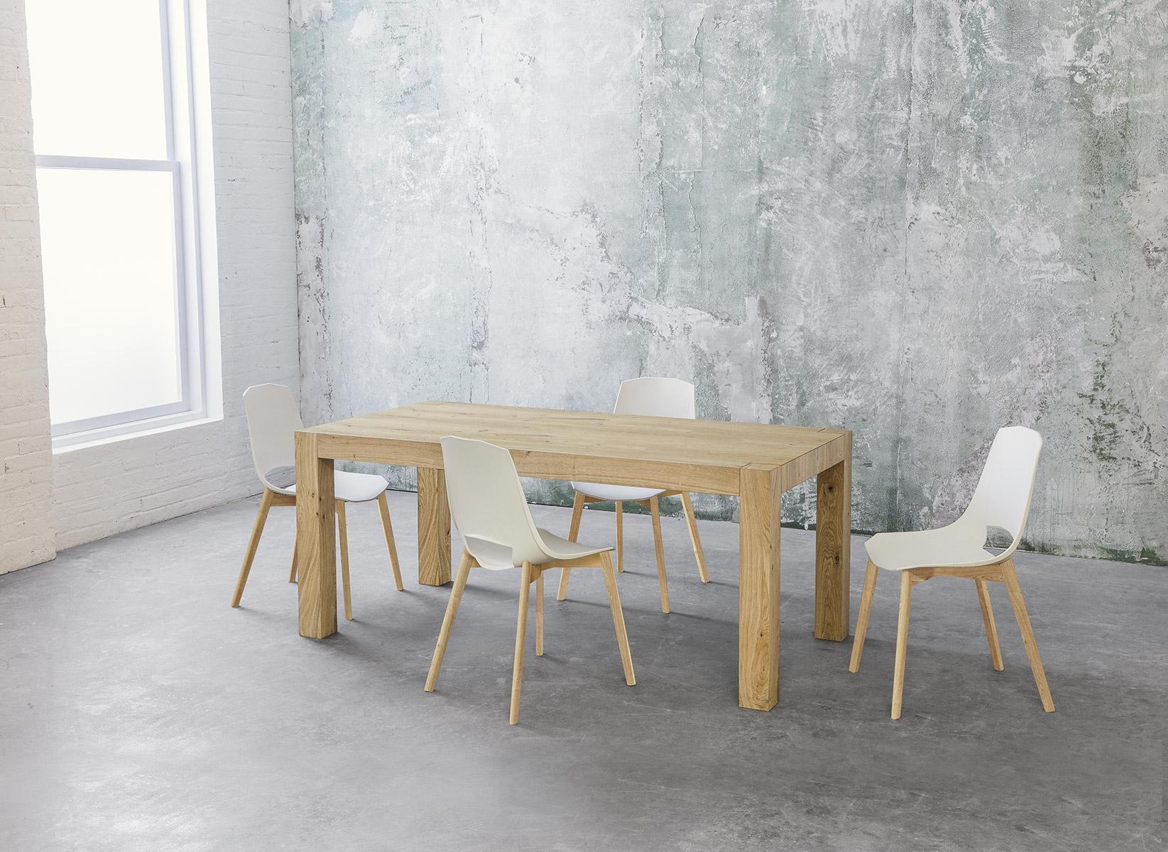Tavolo allungabile point house tola 180 in legno di rovere for Tavolo allungabile legno rovere