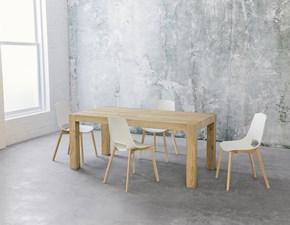 Tavolo allungabile Point House Tola Long 180 in legno di rovere naturale