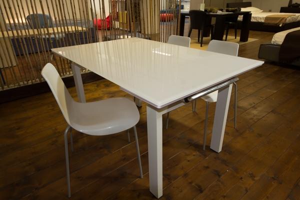 Tavolo allungabile vetro bianco - Tavoli a prezzi scontati