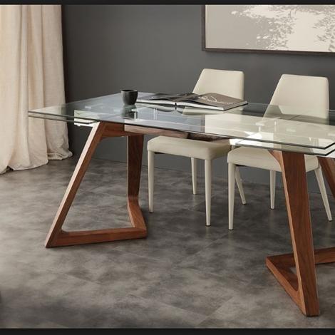 Tavolo allungabile vetro con gambe legno massello prezzo for Tavolo allungabile offerta