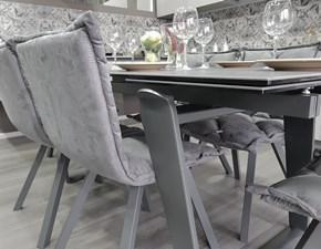 Tavolo allungabile Zeus di Target point + 6 sedie Digione