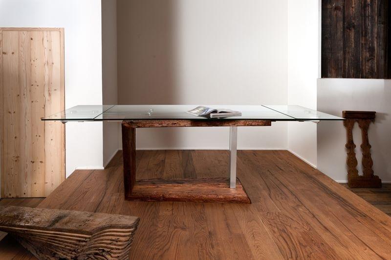 Tavolo antica arte moderno rettangolari allungabili - Produzione tavoli allungabili ...