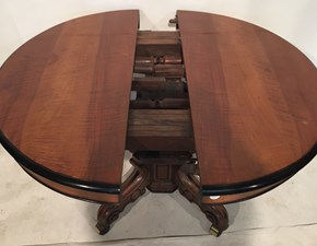 Tavolo Antico tavolo allungabile stile luigi filippo del 1800 in noce Artigianale in OFFERTA OUTLET