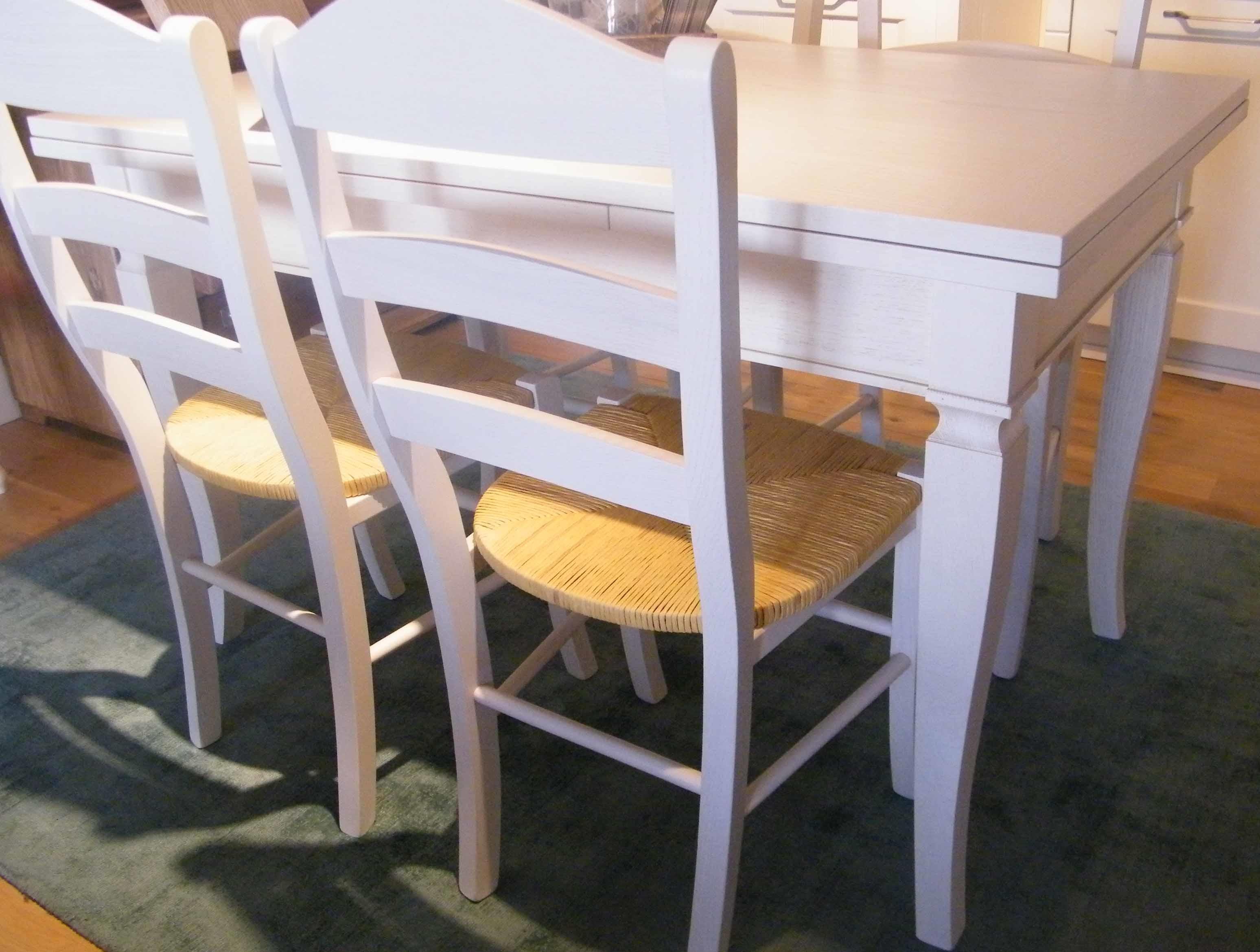 Tavolo allungabile completo di 4 sedie shabby chic - Sedie da cucina prezzi ...