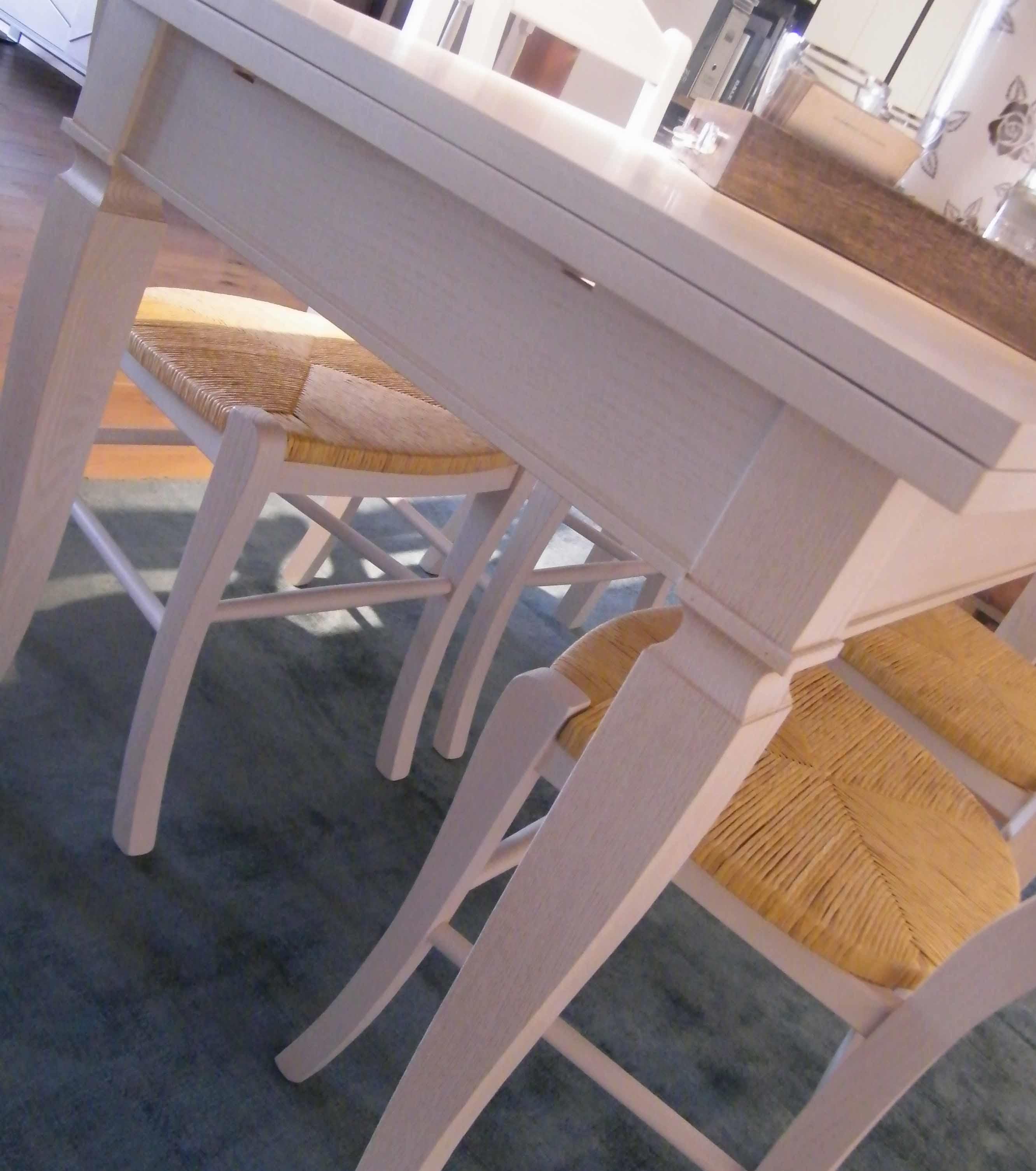 Tavolo allungabile completo di 4 sedie Shabby Chic - Tavoli a prezzi scontati