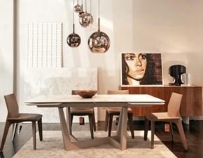 Tavolo Art + heron sedie Bonaldo in ceramica Allungabile