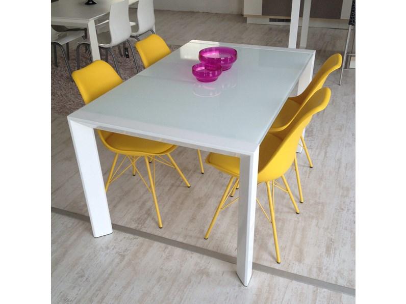 Tavolo Artek acciaio bianco e vetro bianco -35%