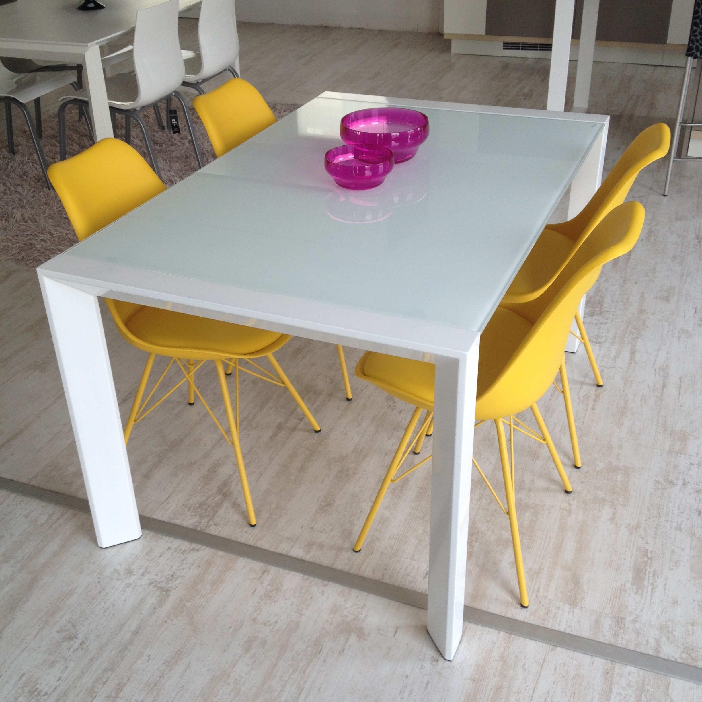 tavolo artek acciaio bianco e vetro bianco 35 tavoli a