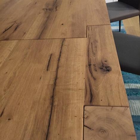 Tavolo artigianale allungabile rovere vecchio - Tavoli a prezzi scontati