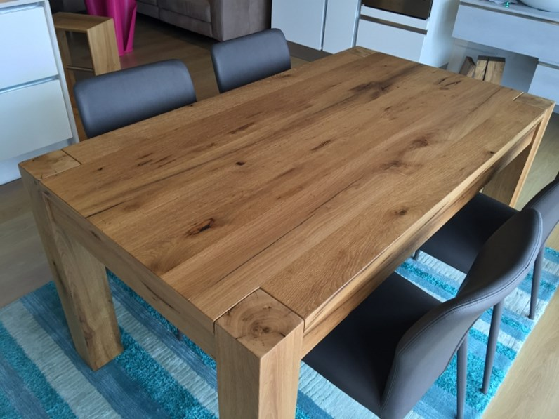 Tavolo artigianale allungabile rovere vecchio