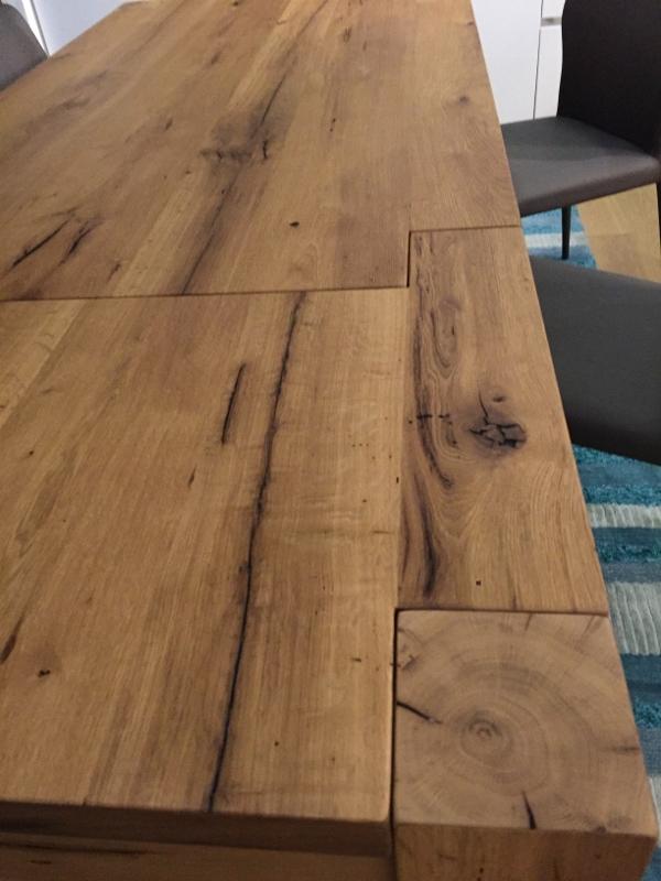 Tavolo artigianale allungabile rovere vecchio tavoli a for Tavolo rovere allungabile