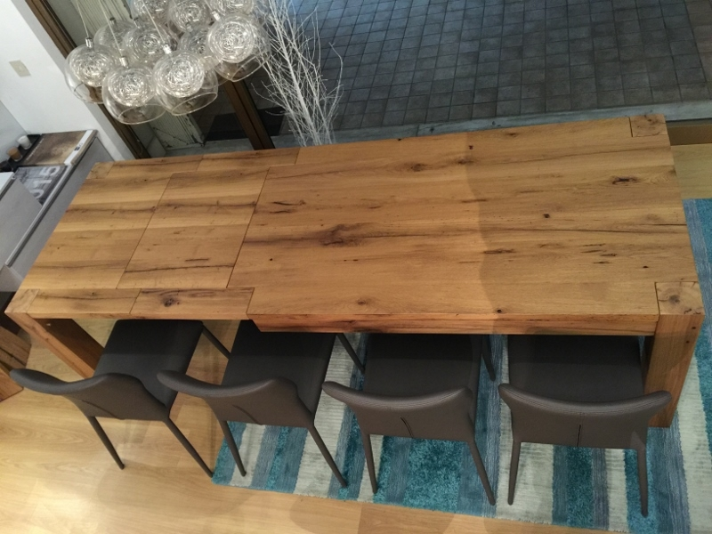 Tavolo artigianale allungabile rovere vecchio tavoli a for Tavoli antichi prezzi