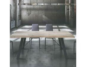 Tavolo Artigianale Atelier con piano in massello PREZZI OUTLET