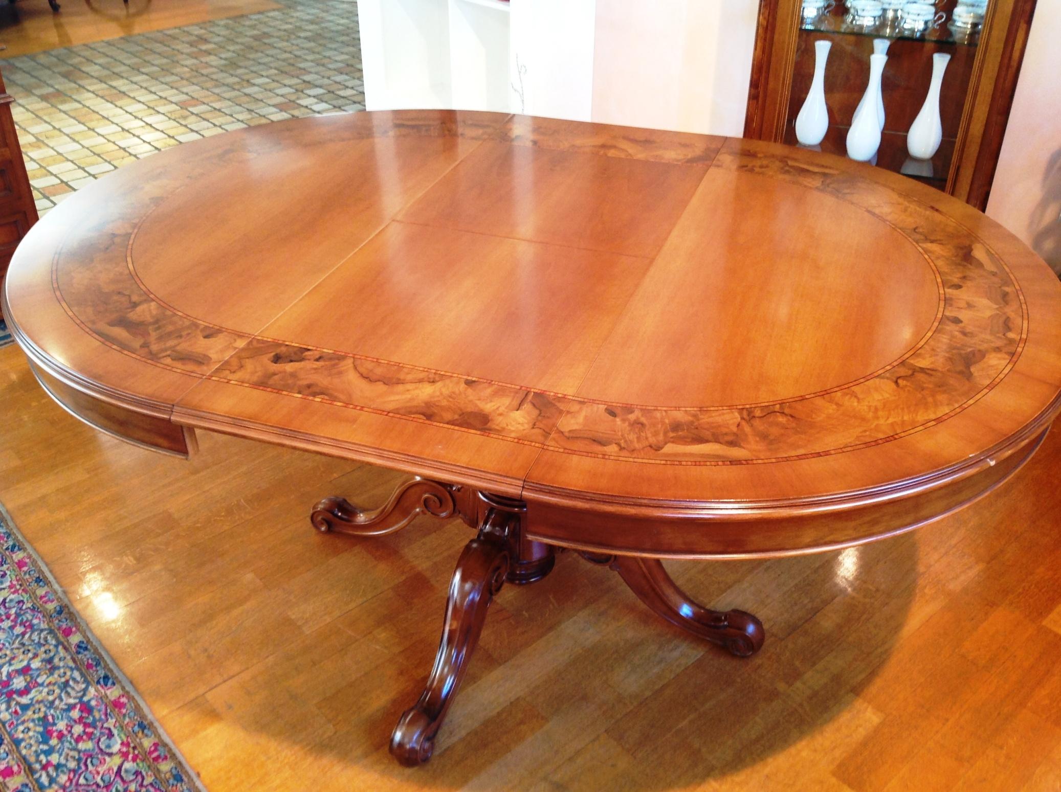 Tavolo artigianale diametro 120 allungabile in legno stile for Tavolo legno noce nazionale