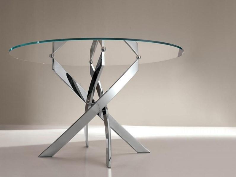 Tavoli Rotondi In Cristallo Design.Tavolo Barone Bontempi Casa In Vetro Fisso