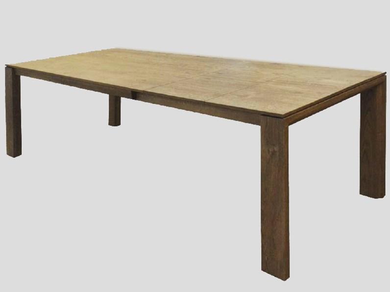Tavolo allungabile in legno massello 160/247 cm - Tavoli a prezzi ...