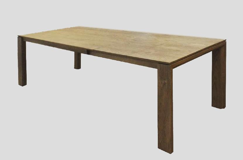 tavolo allungabile in legno massello 160/247 cm - tavoli a prezzi ... - Tavolo Allungabile Legno Massello