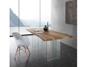 Tavolo Bio-glass La seggiola in legno Fisso