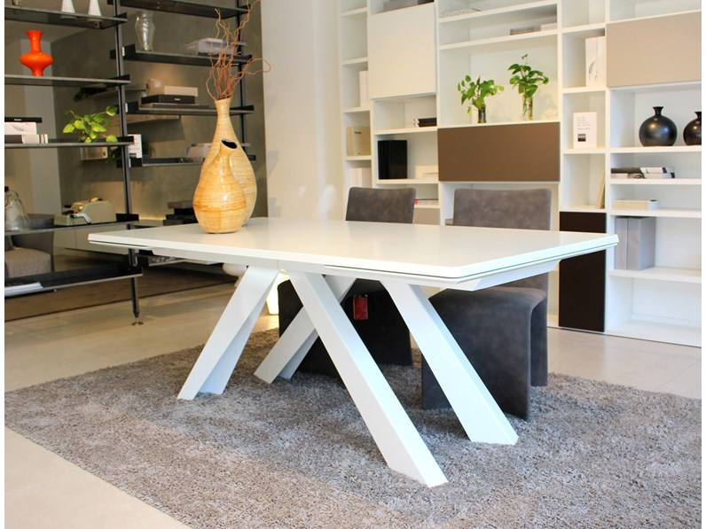 Tavolo bonaldo big table allungabile 200x100 rettangolari for Outlet tavoli moderni allungabili