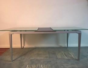 Tavolo Vetro Bonaldo modello Sirio Allungabile con ripiano in Cristallo