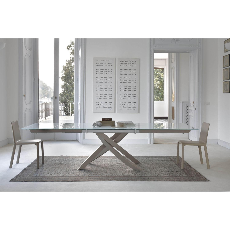 Tavolo bontempi casa modello artistico tavoli a prezzi - Casa in acciaio e vetro ...