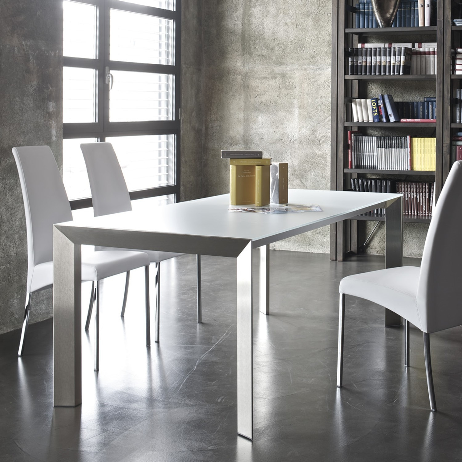 Bontempi Casa Usa. Slice Genuine Leather Upholstered Dining Chair ...
