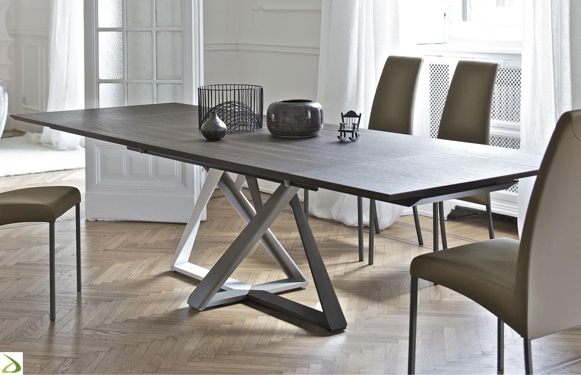 Tavolo bontempi casa modello millennium tavoli a prezzi scontati - Tavoli quadrati in cristallo ...