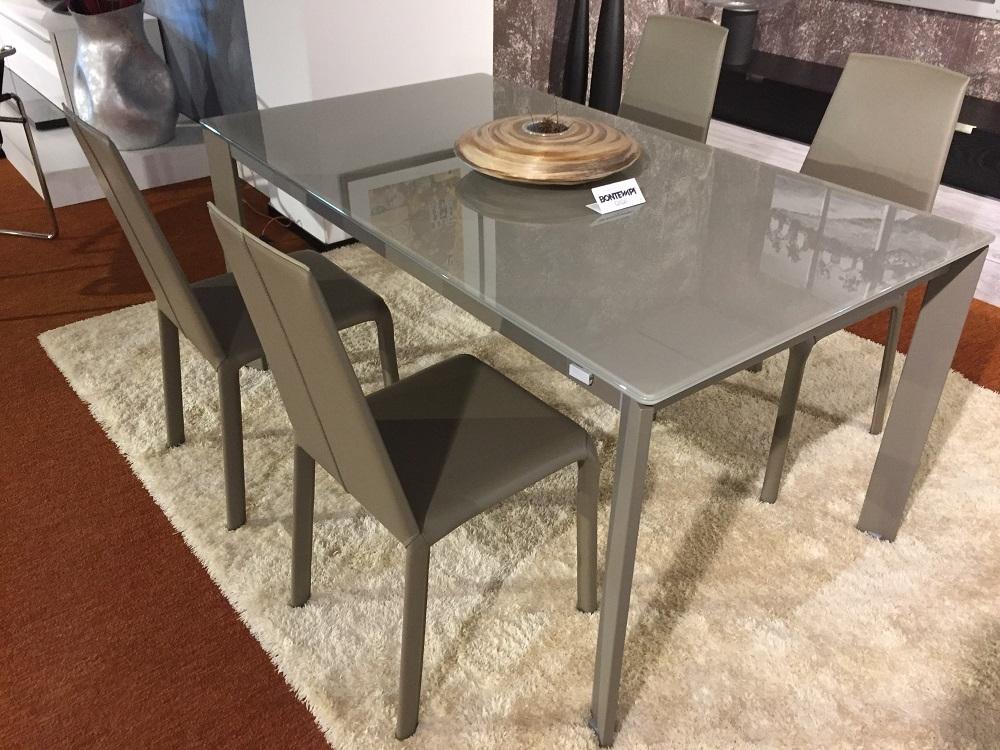tavolo bontempi casa mod.niko allungabile con sedie alice cuoio ... - Tavolo Allungabile Con Sedie